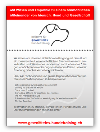 gewaltfreies Hundetraining Initiative