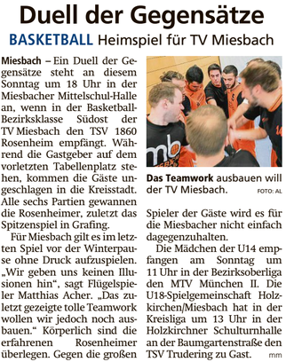Artikel im Miesbacher Merkur am 15.12.2018 - Zum Vergrößern klicken