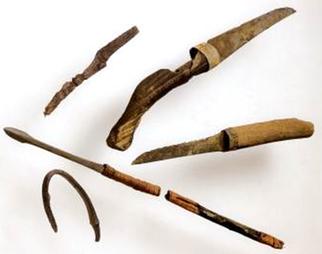瓜破東2丁目出土 古墳時代中期の鉄鏃・刀子