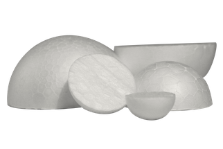 Styropor halbe Kugel