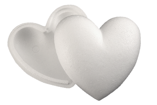 Styropor Herz 2-teilig