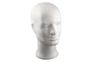 Styropor Kopf Mann