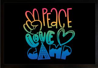Fußmatte Peace Love Camp