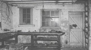 Werkstatt in Crawley, Innenansicht