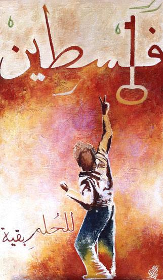 """arabique"", 2012,  acrylic on canvas, 70x120"