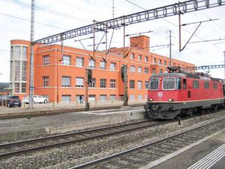 ehemaliges Vereinslokal beim Bahnhof Muttenz, Foto R. Schwob