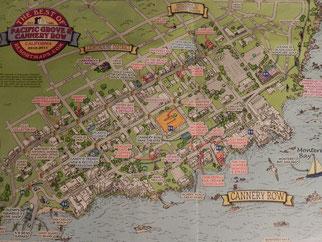 Übersichts Karte Monterey Bay