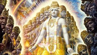 sri-bhagavan uvaca kalo 'smi loka-ksaya-krt pravrddho ::: Krishna sagt :Ich bin die Zeit , die grosse Zerstörerin aller Welten  (B-Gita 11.32