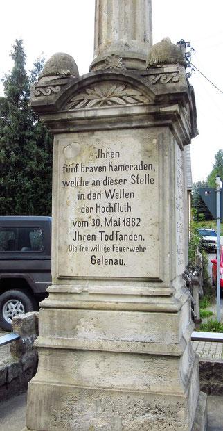Die Inschrift des Denkmals