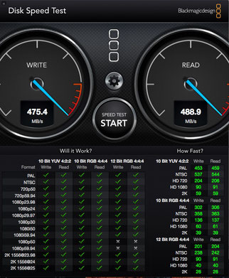 Test disco HDD RAID5 RocketRaid 2720 su Mac