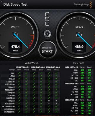 Test disco HDD RAID5 RocketRaid 2720 su Mac