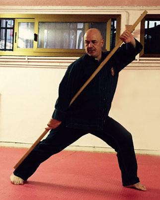 Kung Fu Bastone Lungo lezioni tenute all' istituto studi di Buddhismo Tibetano