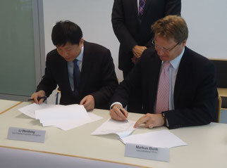 Li Weidong of CGO and Hahn's Markus Bunk signed the pact