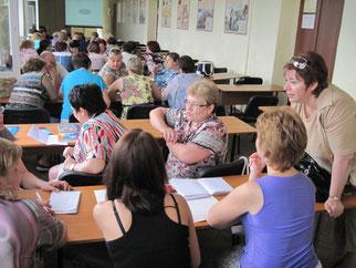На занятиях (лето 2013 года)
