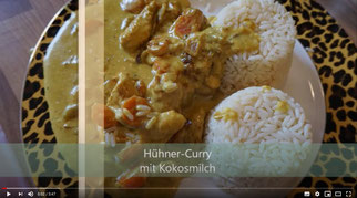 Hühner Curry mit Kokosmilch