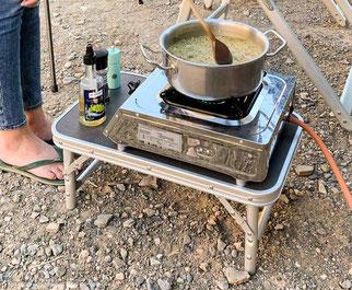 Turbo-Gasgrill  und Kocher für das Wohnmobil