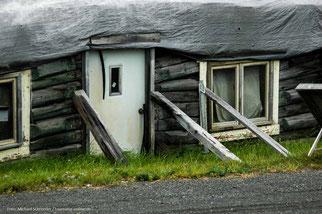 Permafrost zuerstört die Häuser