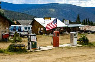 Tankstelle am Weg