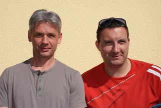 Gestatten: Können (Roman, links) und Wollen (Daniel, rechts)