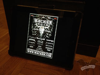 Digitale Ansicht des Flyers zum Wacken Open Air 2018 / Foto: Gothamella