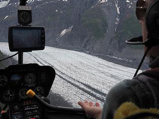 Op weg naar de Valdez Glacier