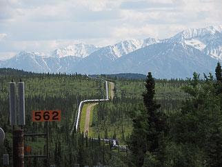 The Alyeska Pipeline at Pump Station nr. 9