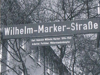Die Wilhelm-Marker-Straße in Niederzwehren östlich der Lukaskirche