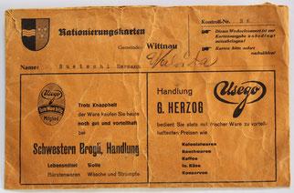 Auf dem Couvert ist Werbung aufgedruckt für die Handlung der Schwestern Brogli (beim Milchhaus) und für den Usego-Laden von Gustav Herzog (s obere Chrämers).