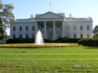 ホワイトハウス、2007年撮影、会議を終えて