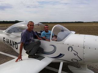 Aeroclub de Sens - Lâcher solo de Fabrice Gourdin