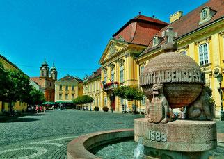Hauptplatz im früheren Stuhl-Weissenburg ungarisch Szekesfehavar