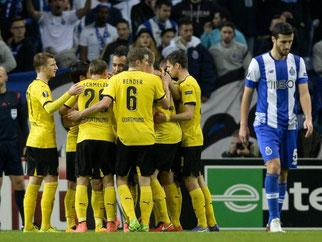Auch Borussia Dortmud hat sich für das Achtelfinale der Europa League qualifiziert. Foto: Fernando Veludo