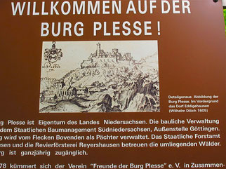 Stop an der Burg Plesse