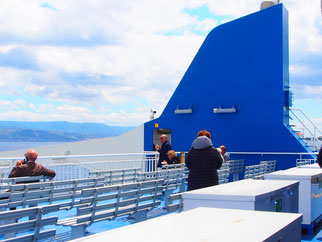 das Fährschiff nach Reggio war fast leer