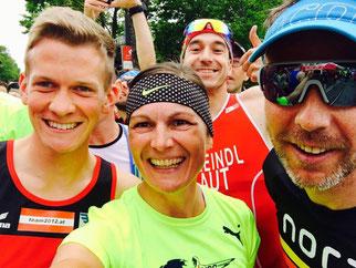 Tolle Stimmung beim Wings for Life World Run - hier auch bei Michi Reithmayr (links) neben Hedi Novy (Foto: Novy/fb)