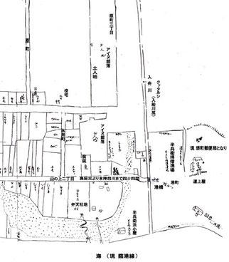 1865年頃現存する古地図の写し(前ページでも使用)