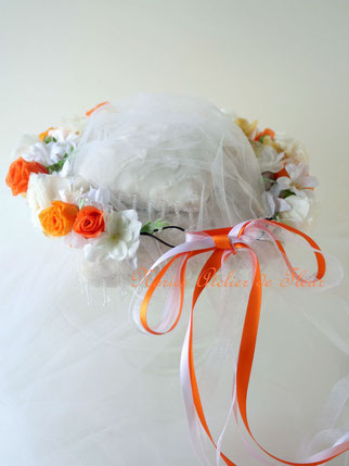 Anna プリザーブドフラワーの花かんむり