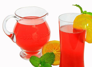 Limonade Orange Strohhalm