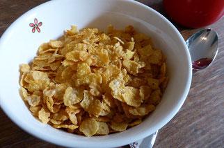 Cornflakes Frühstück