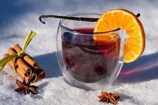 Glühwein Zimt Orange Vanille Schnee Kreuzkümmel
