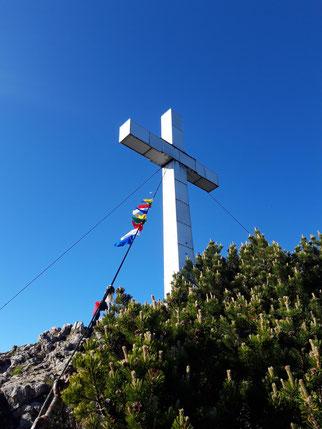 Traunstein Gipfelkreuz, Wanderung Traunsee