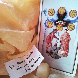 Erfolgszeichen im Tarot. Dali-Tarot: 6 der Münzen