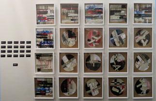 Oxymores - Fragments de mémoire, série de 20 oeuvres, techniques mixtes