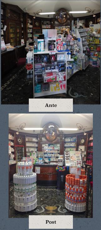 prima e dopo il restyling della farmacia