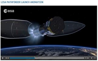 LISA Pathfinder Launch Animation. Film: ESA - Space In Videos 2015