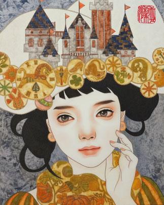 少女の祈り 日本画 P3 ご予約済み