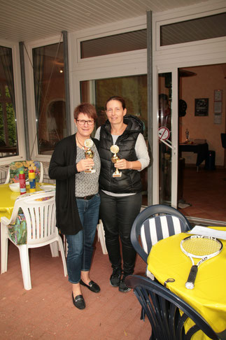 Gesa und Sabine Vereinsmeisterin Damen Doppel