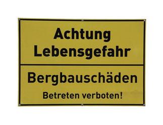 BiHU, Wir brauchen keinen Bergbau in Ostbelgien, Warnhinweis für Bergschäden, Hergenrath, Kelmis, Lontzen, Gemmenich, Plombieres, Walzinc, Vieille Montagne,