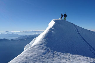 mountaineering Biancograt Piz Bernina Palü
