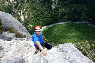 multi-pitch climbing Verdon